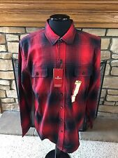MENS NWT WOOLRICH CLASSIC FIT BUFFALO PLAID BUTTON FRONT ULTIMATE FLANNEL XL