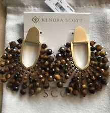 New Kendra Scott Diane Brown Tigers Eye earrings $195.00