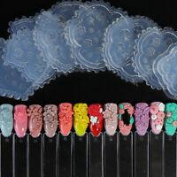 1Pcs 3D Acrylic Powder Sculpture Mold Silicone Nail Art Flower Template Manicure