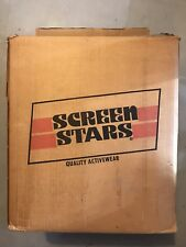 50 x Vintage Screen Stars Deadstock Blank Ringer Shirts lot Green Red blue SMALL