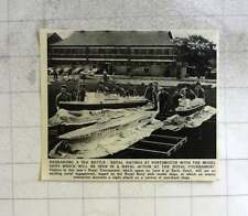 1956 Portsmouth Naval Ratings Rehearsing Sea Battle For Tournament