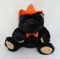 Witch Hat Black Teddy Bear Lodge Cabin Halloween Party Plush Toy Stuffed Animal