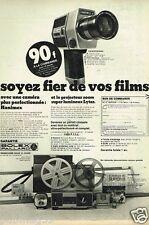 Publicité advertising 1972 Camera Hanimex Projecteur Lytar Paillard Bolex