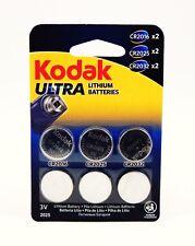Kodak Ultra Lithium Button Coin Cell Batteries 3V CR2016 CR2025 CR2032 Watch Fob