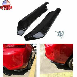 Fit BMW F10 F30 F32 F80 F36 Carbon Rear Bumper Lip Side Skirt Winglets Canards