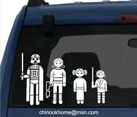 STAR WARS FAMILIES Car sticker, bumper stickers, decal,starwars