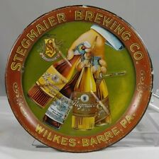 Pre Prohibition Tin Litho Tip Tray Stegmaier Brewing Wilkes-Barre Pa Bottles