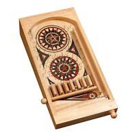 Mini Pinball Tischspiel - Hevea-Holz - mit Metallkugeln