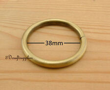 metal O rings O-ring purse ring connector anti brass 38 mm 1 1/2 inch 10pcs U2
