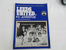 1971 LEEDS UNITED v   FC JUVENTUS INTER-CITIES CUP FINAL 2ND LEG