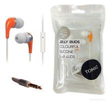 IN EAR ARANCIO Cuffie Auricolari in Gomma per iPhone 4 4S iPod Sony SUMSUNG HTC