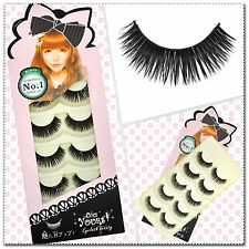 5 Pairs Super Long False Eyelashes Handmade hick Fake Eye Lashes  Black #46