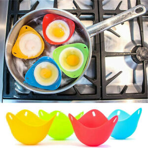 Egg Poacher Cups (4 Pack) Perfect Poached Eggs Poached Egg Maker Set Silicone