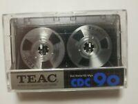 TEAC CDC 90. Metal reel audio cassette tape Japan Super Hi Density Rare