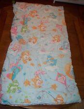 1982 VINTAGE CARE BEARS SLEEPING BAG Blanket 32 X 66 Love A Lot Tenderheart