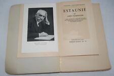 ESTAUNIE-JOHN CHARPENTIER-VISAGES CONTEMPORAINS 1932 NUMEROTE ILLUSTRE