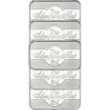 SilverTowne Mint Signature 1 oz .999 Fine Silver Bar LOT of 5