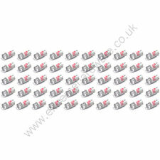 50 x Red 12v 10mm T10 Wedge Base LED Bulbs for Arcade Push Buttons - MAME