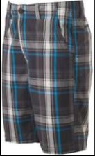 NWT  MENS Urban Pipeline Flat Front Plaid  Cotton Classic Length Shorts Size 40