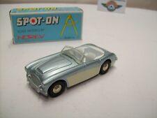 Austin Healey 100-six, argent blaumetallic/crème, 1956, Spot-On (NOREV) 1:42, neuf dans sa boîte