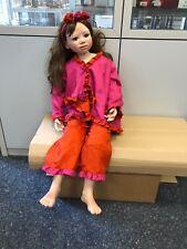 Christine Orange Vinyl Puppe 103 cm. Top Zustand.
