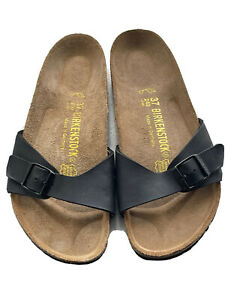 Birkenstock Madrid Regular Fit Black Sandals Uk 4 / 37
