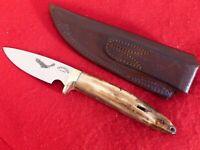 Tiny Spencer Alaska USA mammoth tooth mint Fixed blade sheath knife