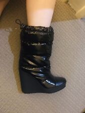 COACH Farren Wedge Heel Puffer Boots Black Size: 39 *No Box No Dust bag