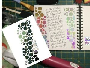 Cascading Bubbles 190mic Mylar Stencil - For Mix Media Craft And Card Making.