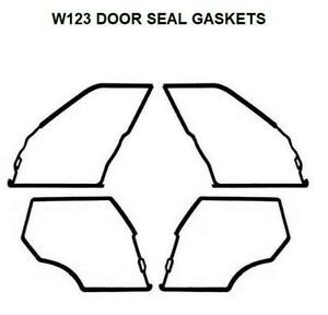 Door Seals Weatherstrip Seal Mercedes Benz W123 Gaskets 200 220 230 220D 240D