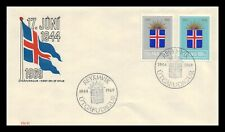 Iceland 1969 FDC, 25th Anniversary of the Republic. Lot # 2.