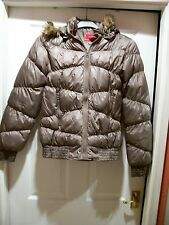 Women's, Bronze, Quilted, Jacket, Hooded, Vero Moda, Size M, Excellent Condition