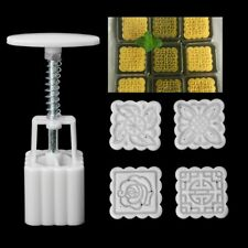 Flowers Mooncake Hand Pressure Mould Moon Cake Molds Baking Tools Pastry Cakes