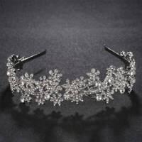 Bride Wedding Tiara Crown Flower Headband Bridal Hair Band Accessories
