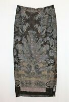 GERRY WEBER Brand Paisley Formal Evening Maxi Skirt Size 12 LIKE NEW #AN02