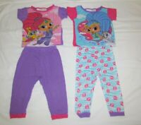 Lot of Nickelodeon Girls Shimmer and Shine PJ Sleepwear 2 Sets Size 2T