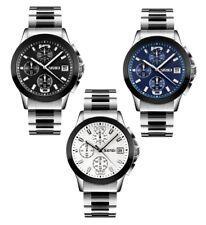 SKMEI Men Quartz Stainless Steel Waterproof Wrist Watch Stopwatch Date Indicator