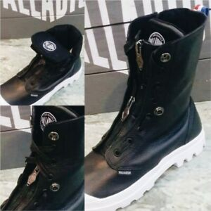 RARE bottes palladium baggy lea m zip tpz 03985-002-M BLACK/WHITE T 40
