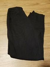 hana andersson black sweat pants w/ pockets size 140