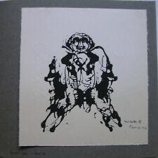 OSWALDO VIGAS - Carte de Voeux LITHO 1962 SIGNED