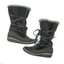 Timberland Womens Tall Winter Boots Shoes Black Suede Insulated 2160 Size 8.5 M