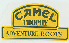 Etiqueta Engomada Del Vinilo Rally Motorsport Exterior Camel Trophy Aventura Botas calcomanías x2