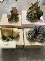 Lot of 4 David Winter Cottages in Original Boxes MINT 1980's