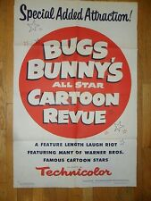 Bugs Bunny's All Star Cartoon Revue ORIG 1958 1-SHEET POSTER Animation Classic