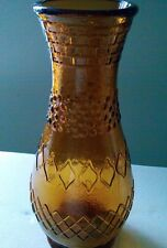 "Vintage Glass Vase Topaz Bronze Color 12"" High, Base 4"" Diameter Shipped Free"