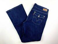 Levi's Women's Jeans Size 8S 526 Slender Boot Cut Dark Wash Stretch Blue Denim