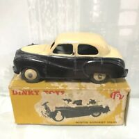 1962 DINKY TOYS 161 AUSTIN SOMERSET TWO-TONE CREAM BLACK DIE-CAST TOY EXC + BOX!