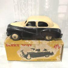 1962 DINKY TOYS 161 AUSTIN SOMERSET TWO-TONE CREAM BLACK DIE-CAST TOY EXC + BOX!