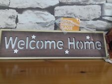 ''WELCOME HOME'' WALL PLAQUE [ready to hang}