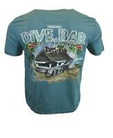 Mens T Shirt Dive Bar Island Shores Drinks Tiki Hawaiian Shack Hut Beach Ocean
